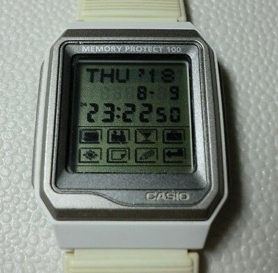 48c0d2858b5 CASIO DATABANK TOUCHSCREEN VDB-101JIM-7AT Invisible Machine Watch Rere Used