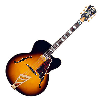 2018 D'Angelico Excel EXL-1 Vintage Sunburst Hollow Body Electric Guitar Duncan