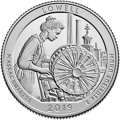 2019 D Mint Quarter Roll Massachusetts Lowell National Park Free Ship + Extras