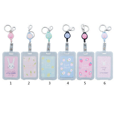 Cute Cartoon Retractable Badge Card Holder Pull ID Name Card Badge Holder