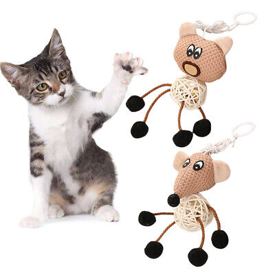 New Pet Cat Bell Toy Portable Sepaktakraw Kitten Interactive Play Rope Fun Toys
