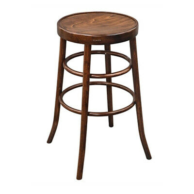 Vintage Bentwood High Pub Stool Walnut effect finish Bar Stool for Indoor Use