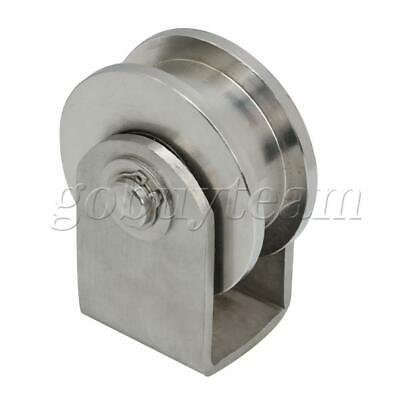 L Size Sliding Gate Roller H Shape Groove Type Track Rail Fixed Pulley