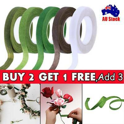 3PC Floral Stem Wrap Florist Artificial Flower Metallic Tape Wire Coverage Craft