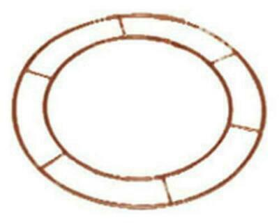 "Wreath Metal Frame Make Your Own 10"" Flat Wire Ring Christmas Floristry Crafts"