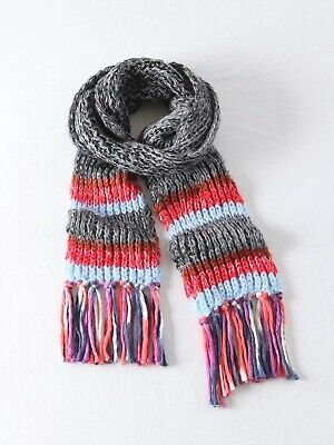Unisex Classic tassels Chunky Cable Knit shawl 230*23 Acrylic Winter Cape scarf