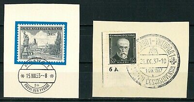 CZECHOSLOVAKIA OLD STAMPS 1937 plus 1953 - fine Cancels