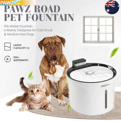 3L Pet Dog Cat Water Dispenser Bowl Fountain Drink Electric Automatic Feeder AU