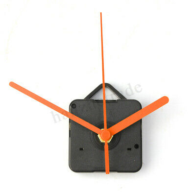 Orange Hands DIY Quartz Movement Ticking Sweep Clock Mechanism Repair Parts