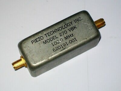 PIEZO TECHNOLOGY INC. 100 mhz bandpass filter mod. 270 VBK