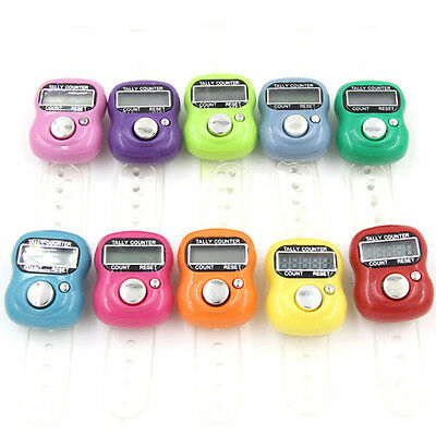 New 5 Digit LCD Electronic Digital Golf Finger Hand Held Ring Tally Counter 1Pcs