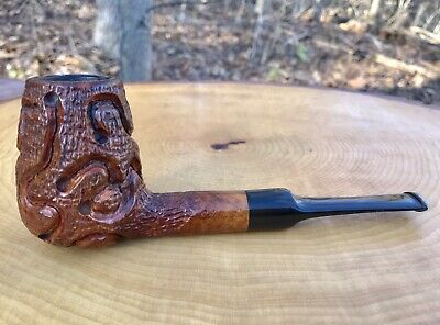 Large Edward's Algerian Briar Estate Pipe Carved