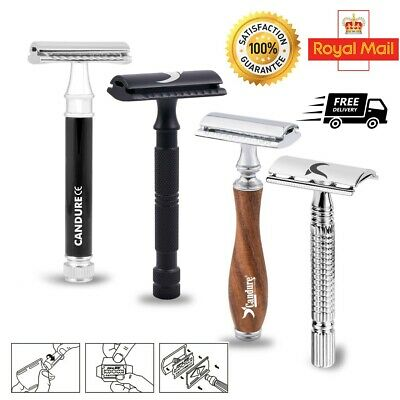 Double Edge De Safety Razor Classic Shaving + FREE Blades Vintage Shaver For Men