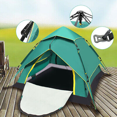 4 Person Layer UV Protect Camping Double Tent Instant Outdoor Camp Shelter New