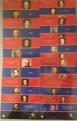 2007-2016 10 Us Mint Presidential P & D Uncirculated 8-Coin Dollar Sets Ogp