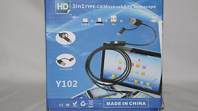 8mm Waterproof USB for Android Endoscope Borescope 6 LED Snake Inspection Camera