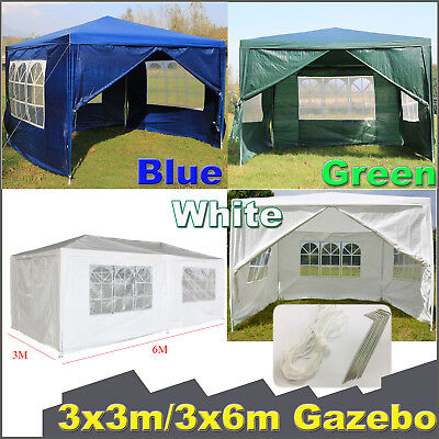 New 120g Waterproof Outdoor PE Garden Gazebo Marquee Canopy Party Tent 3 Sizes