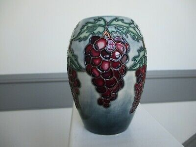 Moorcroft Grapes Design Vase