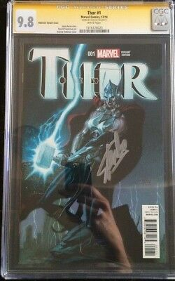 Thor #1 1:50 Andrew Robinson Variant CGC SS 9.8 Signed Stan Lee