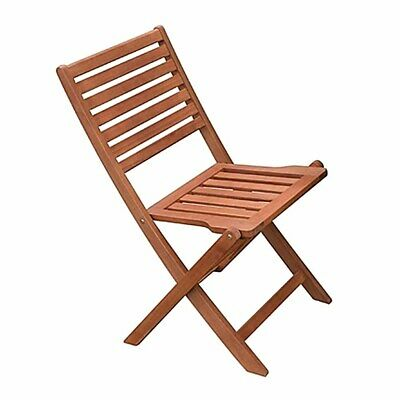 2 Pack of Wooden Folding Side Chair For Outside Café, Bistro or Restaurant