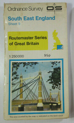 Old 1978 OS Ordnance Survey 1:250 000 Routemaster Map 9 South East England