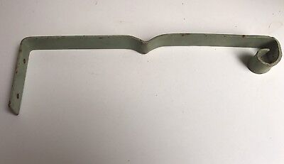 Vintage Antique Metal Plant Hanger Hook Rusty Mint Green Shabby Chic