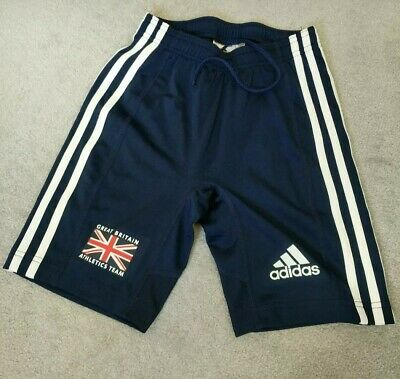 Great Britain Athletics GB Team Adidas knee length running tight shorts Size 8