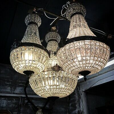 Antique, French Chandelier, Vintage, Industrial,90cm Tall