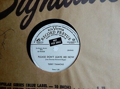 """Vocal Wlp Flexi Disc Terry Timmons  Rca Victor # 20 5163  10"""" 78 Rpm Record"""