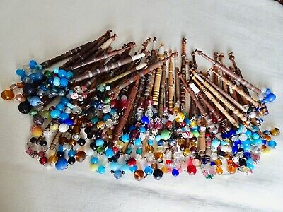 Seventy (70) Antique & VintageTurned Wood Lace Maker's Bobbins A/F