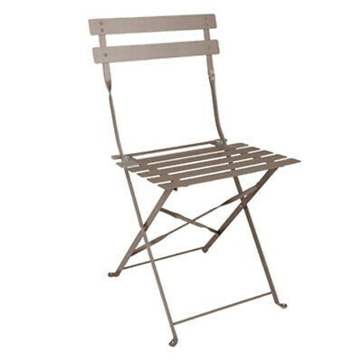 Coffee Pavement Style Steel Chairs assembled folding garden chairs sturdy