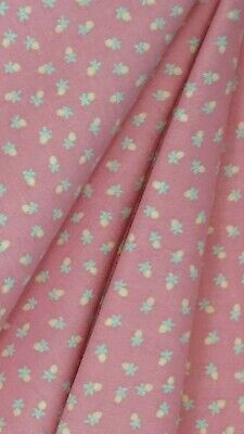 W💟W FABRIC SALE $4 FULL YARD Lovely Peachy Coral Calico Cotton Sewing Material