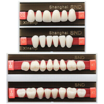 28Pcs/Box A1 Shade O2 FullMouth Dental Synthetic Resin Teeth Denture Tooth False
