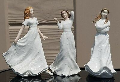 Royal Doulton x 3 China Figurines Statues 6''