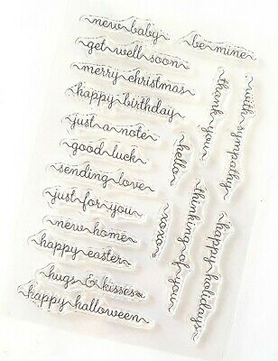 Sentiment Words Clear Rubber Stamps/stamp-Happy Easter/new Home/baby/just A Note