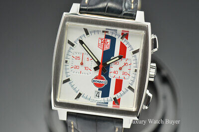 Tag Heuer Monaco Chronograph Steve Mcqueen Gulf Limited Edition Watch Cw2118