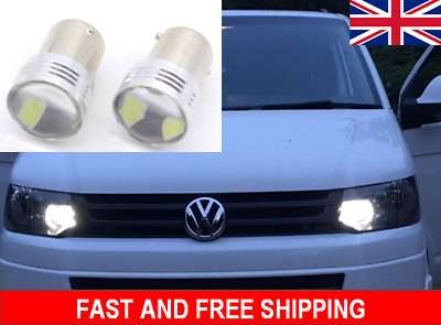 2X VW TRANSPORTER T5 T5 1 White LED DRL Replacement Day Light