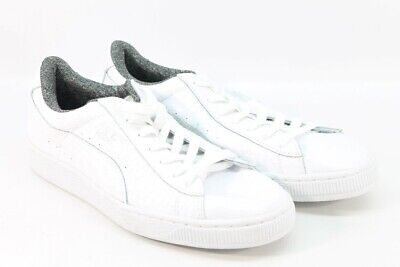 reputable site 4aeac 42474 PUMA BASKET CLASSIC Lifestyle Women's White Sneaker's 9M