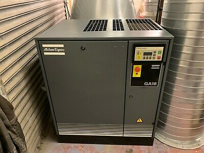Atlas Copco GA18 FF Air Compressor with Fridge...