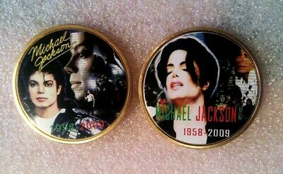 Michael Jackson JFK  Memorial Gold Plated color coin Limited Edition
