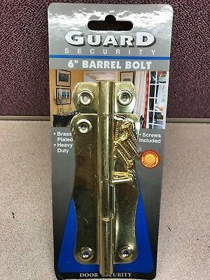 6'' Brass Heavy Duty Barrel Bolt Door Security Lock Latch Gate ''guard''