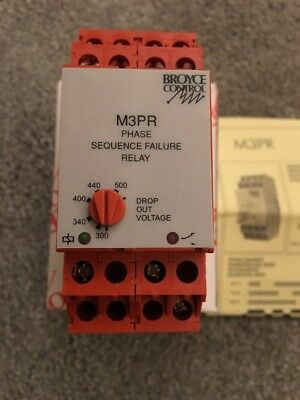 Broyce Control M3PR Phase Sequence Failure Relay, New