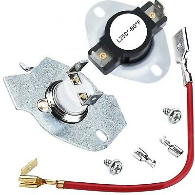 Thermostat Thermal Fuse Kit Fits Whirlpool Kenmore 279816 3390291 3977393