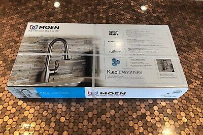 New! Moen Kleo Pull Down Kitchen Faucet Stainless Finish CA87011SRS