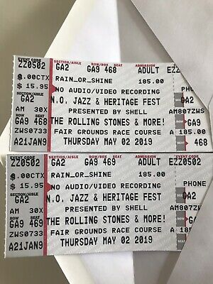 Two Tickets To The ROLLING STONES at JAZZ FEST! Thursday May 2nd...