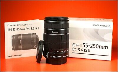Canon EF-S 55-250mm II  F4-5.6 Image Stabilization AF Zoom Lens.With Caps & Box