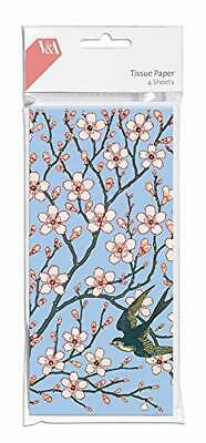 1 Pack High Quality Almond Blossom and Swallow Tissue Paper V&A Collection