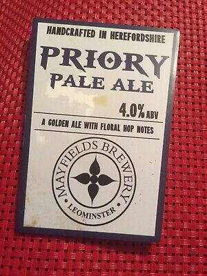 Mayfields Brewery Priory Pale Ale -Beer Pump Clip(front)