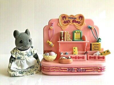 Sylvanian Families Gift Shop with Dressed Mouse Figure
