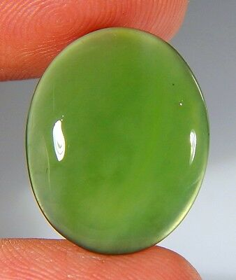 09 Ct Top Natural Green Emerald Color Serpentine Jade Oval Cabochon Gemstone A78